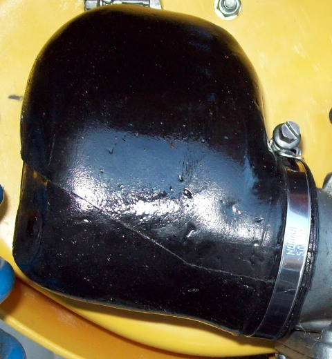 1981-1983 Suzuki RM 125 250 465; 83/84 RM 500 Works Replica Single Side Airbox Assembly Replacement Air Boot